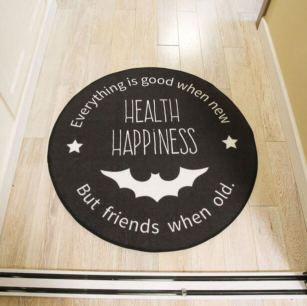 Halloween Style Cartoon Round Carpets Soft Floor Mats For Living Room Bedroom Anti-Slid Rugs Kids Room play game mat Rugs