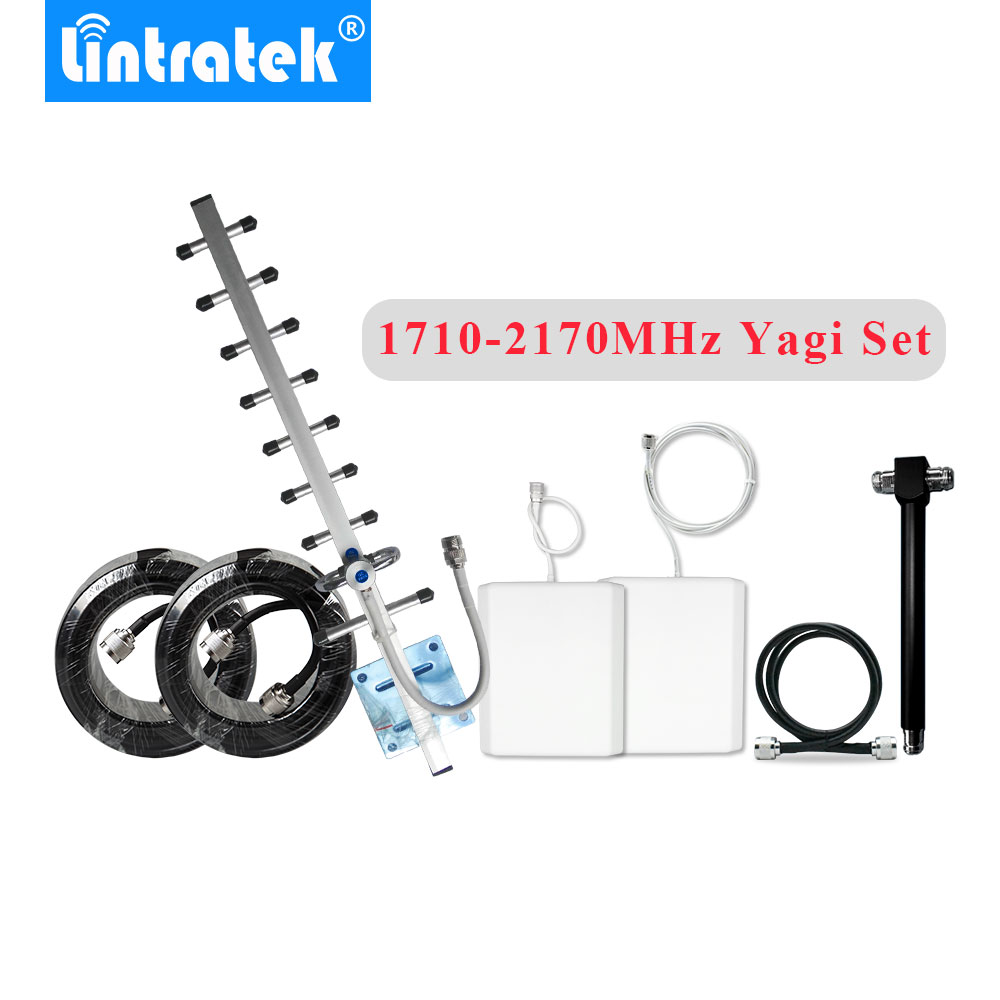 HOT 13dbi 3G Yagi Antenna Cable Full Set Accessories For 1700MHz 1800MHz 1900MHz 2100MHz 4G Signal Repeater Booster Amplifier @