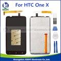 Para htc one x s720e panel de la pantalla pantalla lcd full original + pantalla táctil digitalizador asamblea del reemplazo + herramientas