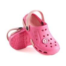 Детские тапочки для девочек; пляжные сандалии для сада; летние детские тапочки с отверстиями; домашние шлепанцы для мальчиков; детская Нескользящая домашняя повседневная обувь