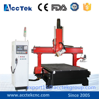 Stand 4axis 9.0kw HSD Air cooling power cnc router engraving machine milling drilling machine high Z axis strock