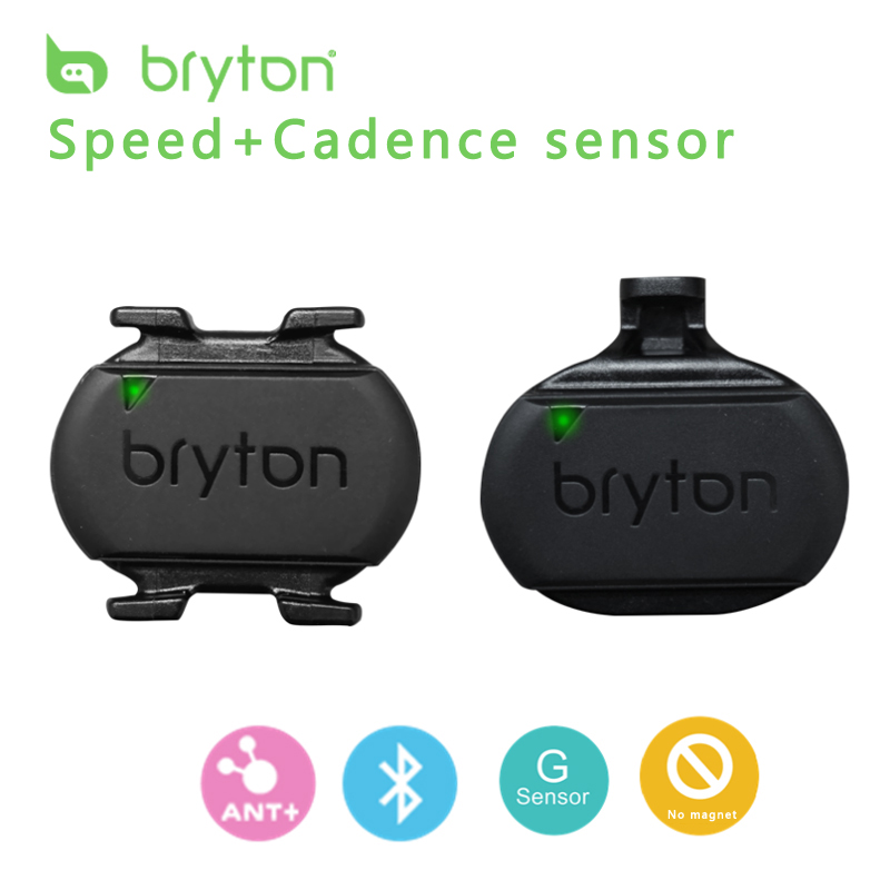 G-sensor ANT+ & Bluetooth Bryton Speed & Cadence Sensor for GPS Cycling Computer compatible GARMIN Edge 520 Bryton iGPSPORT iGS rider 530 c gps bicycle bike cycling computer extension mount with ant cadence sensor garmin edge200 520 820 1000 1030