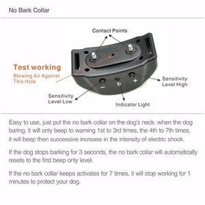 Image 2 - No Bark Collar de perro Control Collar de Entrenamiento de mascotas, 7 niveles Mini Collar de parada de ladridos Anti ladridos choque electrónico Collar de entrenador de perro