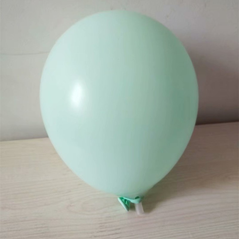 Macaron balloons 50pcs lot 12inch thick latex green balloon inflatable mariage air ballon baby birthday party decoration boy in Ballons Accessories from Home Garden