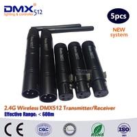 5 шт./лот беспроводной DMX512 LED контроллер освещения приемопередатчик и приемник
