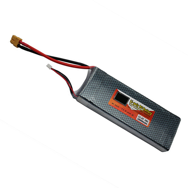 Lipo Battery 11.1v 10000mAh 25C 3S XT60 Plug Lithium Polymer Power Battery For RC Multicopter FPV Quadcopter Model Parts Bateria wholesale 504260 3 7v lithium polymer battery length 60 width 42 thickness 5mm