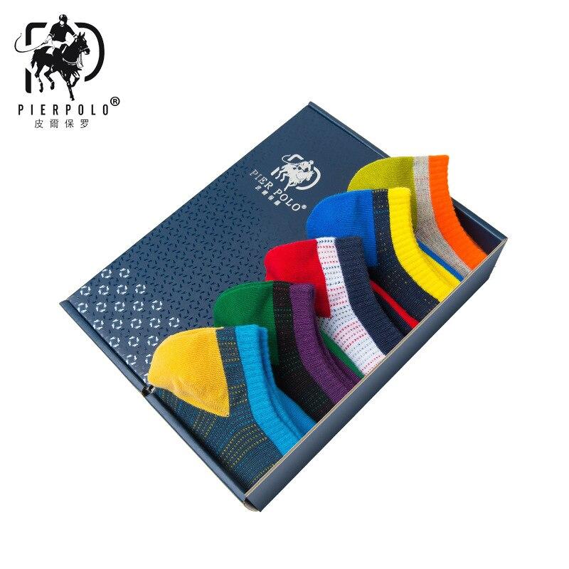 PIERPOLO Fashion Brand Stripe Happy Socks High Quality Men Cotton Socks Meia