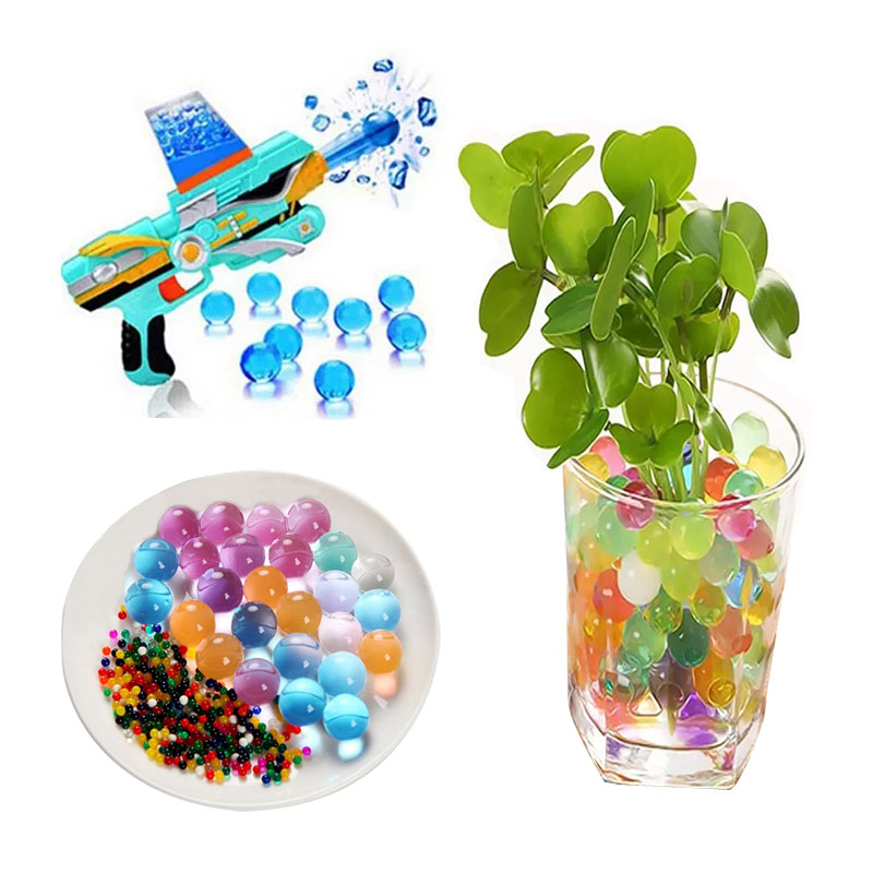 300PCS/bag water beads paintball water crystal ball soft bullet for orbeez gun water gun bullet soft water crsytal