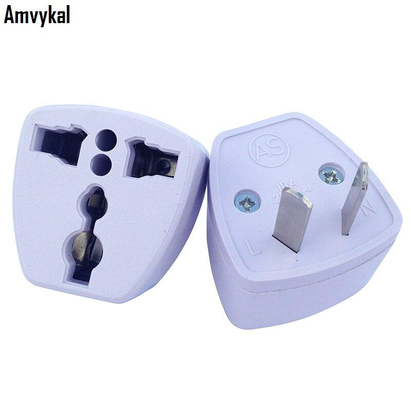 Amvykal High Quality Universal Travel AC Power Electrical Plug Charger Adaptador US/UK/EU To Au Plug Adapter Converter 500 Pcs