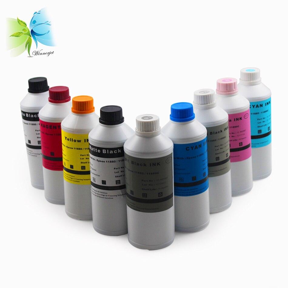Winnerjet 1000ML X 9 colors sublimation ink for Epson Stylus Pro 11880 11880c printer cartridge excellent