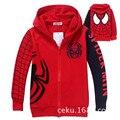 2015 nuevos niños clothing spiderman para niños chaqueta de punto de algodón chaqueta de gama alta bordado chaqueta de cremallera de la chaqueta envío gratuito