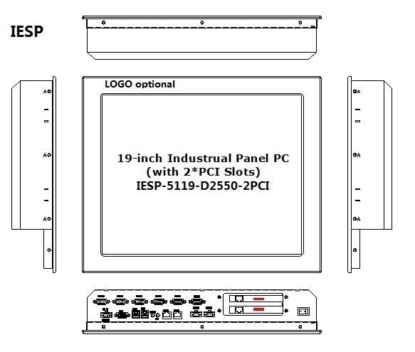 PC panel layar sentuh industri 19 inci, dengan 2 * PCI Expansion - Industri komputer dan aksesoris - Foto 2
