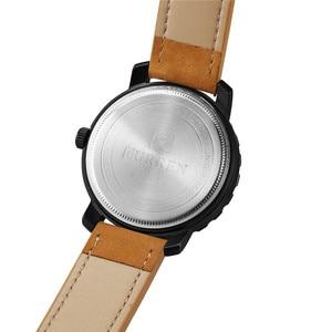 Image 5 - עסק פשוט אופנה גברים שעוני יוקרה מותג CURREN זכר שעון לוח רצועת עור שעוני יד Relogio Masculino Hodinky