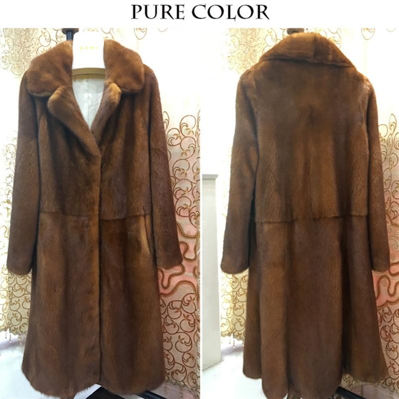LVCHI mink palto Mərcan ilanları Rusiya klassik mink Topdan Təbii - Qadın geyimi - Fotoqrafiya 5