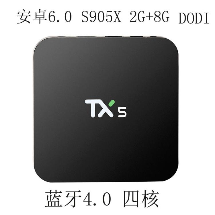 ФОТО TX5 S905x Android 6 Bluetooth 2g8g Set-top Box Network TV Box HD Player Root smart tv box android tv box