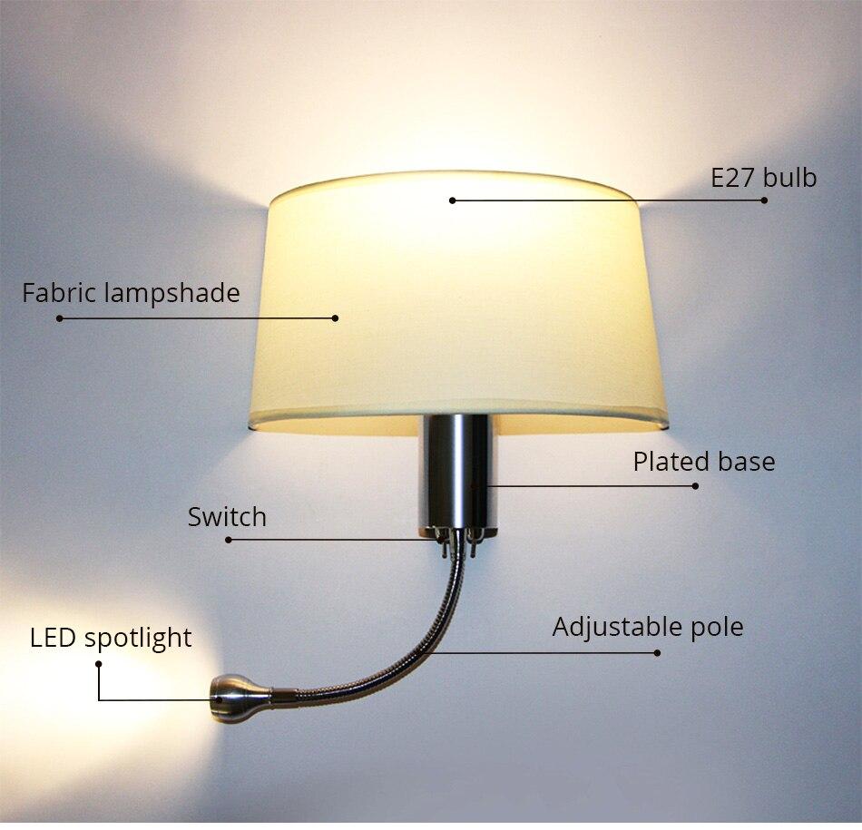 E27 Wall Lamp Modern Lighting Luminaires Bathroom Living Room Hotel Bedroom Loft Decorative Sconce Night Lighting LED Wall Light (9)