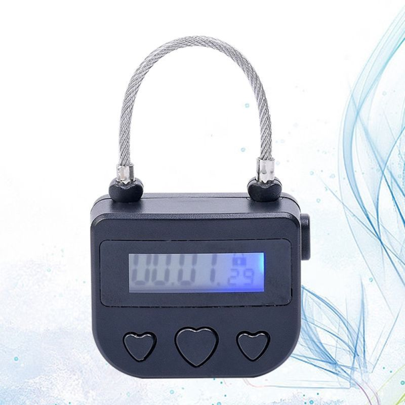 ABS Adult Game Anti-addictive Smart Time Lock Self-Bondage Electronic Countdown Lock Waterproof Recharge 5V USB Switch Padlock