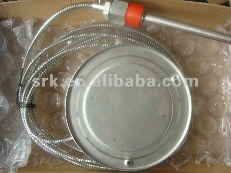 Remote  bimetal thermometer with Capillary ,SS304,  0 C to 120C