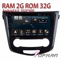 Auto Media For Nissan Qashqai 2016 10 1 Android 6 0 WANUSUAL Car GPS Navigation With