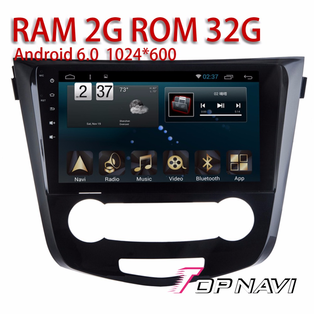 Auto Media for Nissan Qashqai 2016 10.1 Android 6.0 Topnavi Car GPS Navigation with Optional OBDII DVR Reverse Camera Players