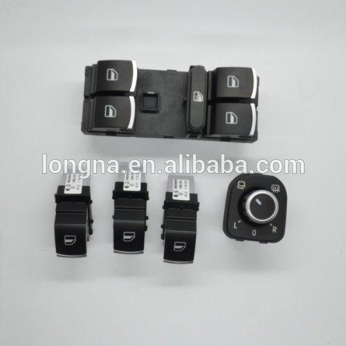 For Vw Jetta Golf GTI Mk5 Mk6 Rabbit Toggle Switch Chrome Master Window Mirror Switch