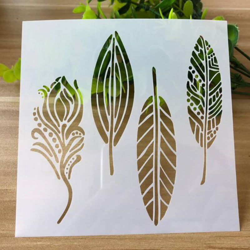 1pc Bullet Journal Openwork Flower And Leaf Engraving Drawing Stencil Scrapbooking Album Decorative Embossing Template Drawing