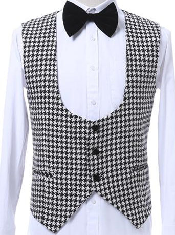 Customize-Houndstooth-Groom-Tuxedos-Shawl-Lapel-One-Button-Side-Vent-Men-Wedding-Blazer-Men-Prom-Dinner (3)