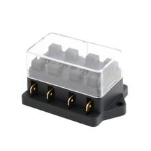 4 Way Fuse Box Block Fuse Holder Box Car Vehicle Circuit Automotive Blade New