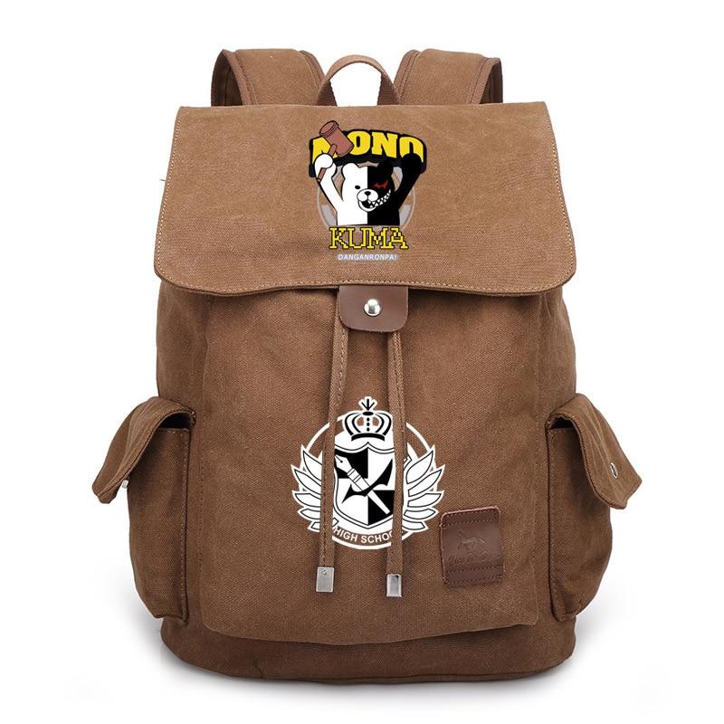 096dcd2415 Schoolbag for girls Dangan Ronpa Danganronpa Monokuma Backpack Cosplay School  Bags Luminous Students Travel Bags Free Shipping