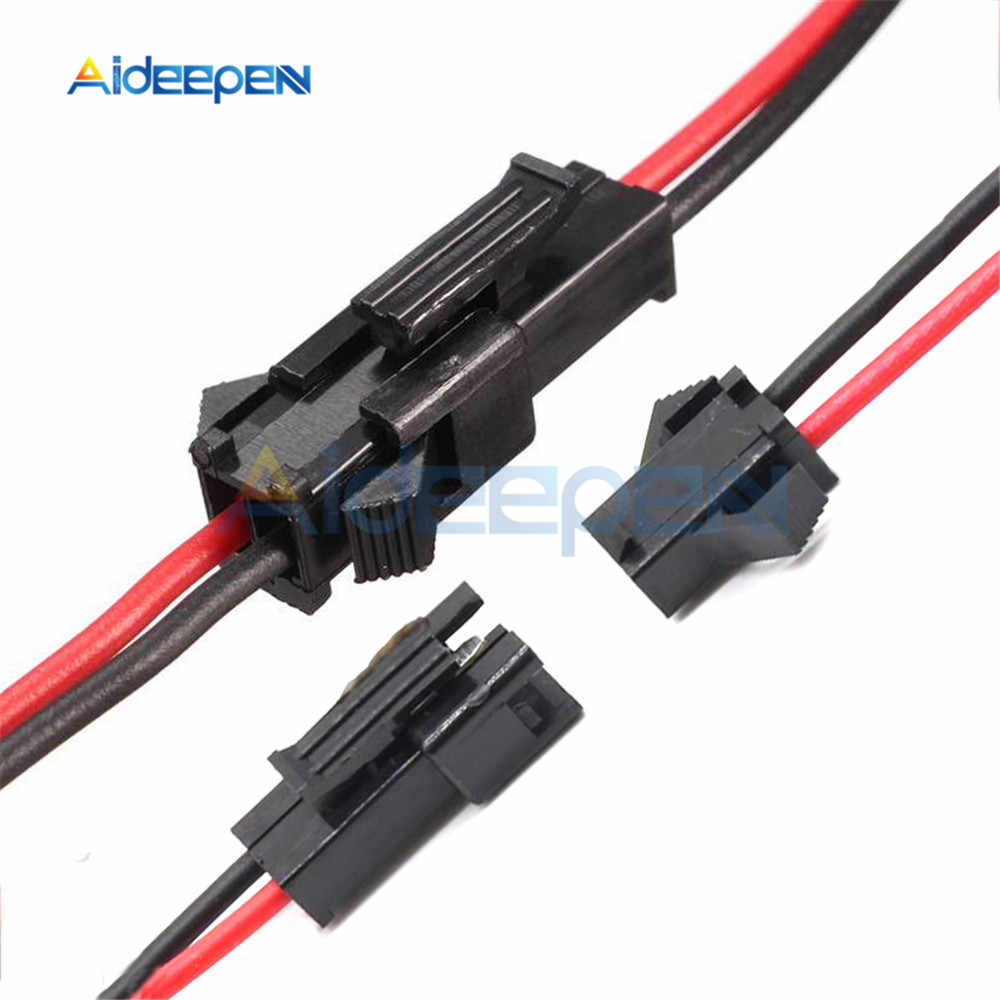 10Pairs 15cm Long JST SM 2Pins Plug Male to Female Wire Connector Adapter