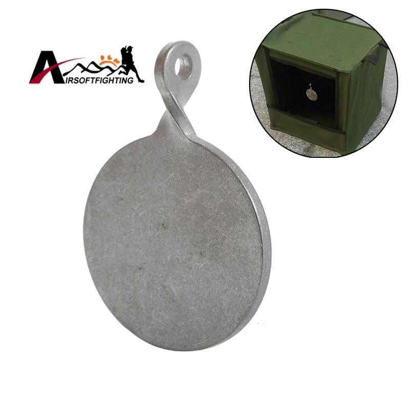 Tactical Hunting Shooting Dia 4cm Stainless Steel Target Bullseye Airsoft Slingshot Catapult Durable Shooting Target