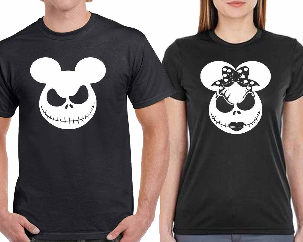 da51b51d0 Detail Feedback Questions about Nightmare Before Christmas T shirt Jack and  Sally Tee shirt Minnie Mouse Micky Matching Couples Tee shirt on  Aliexpress.com ...