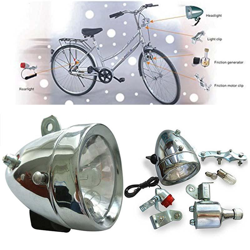 Цена за Велосипед Голову и Хвост Лампы Динамо 12 В 6 Вт Крепления Инструмента Моторизованный