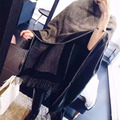 2016 Winter New Scarf Women cashmere scarf Stitching Color Thick Shawls and Scarves for Women Tassel Scarf 6