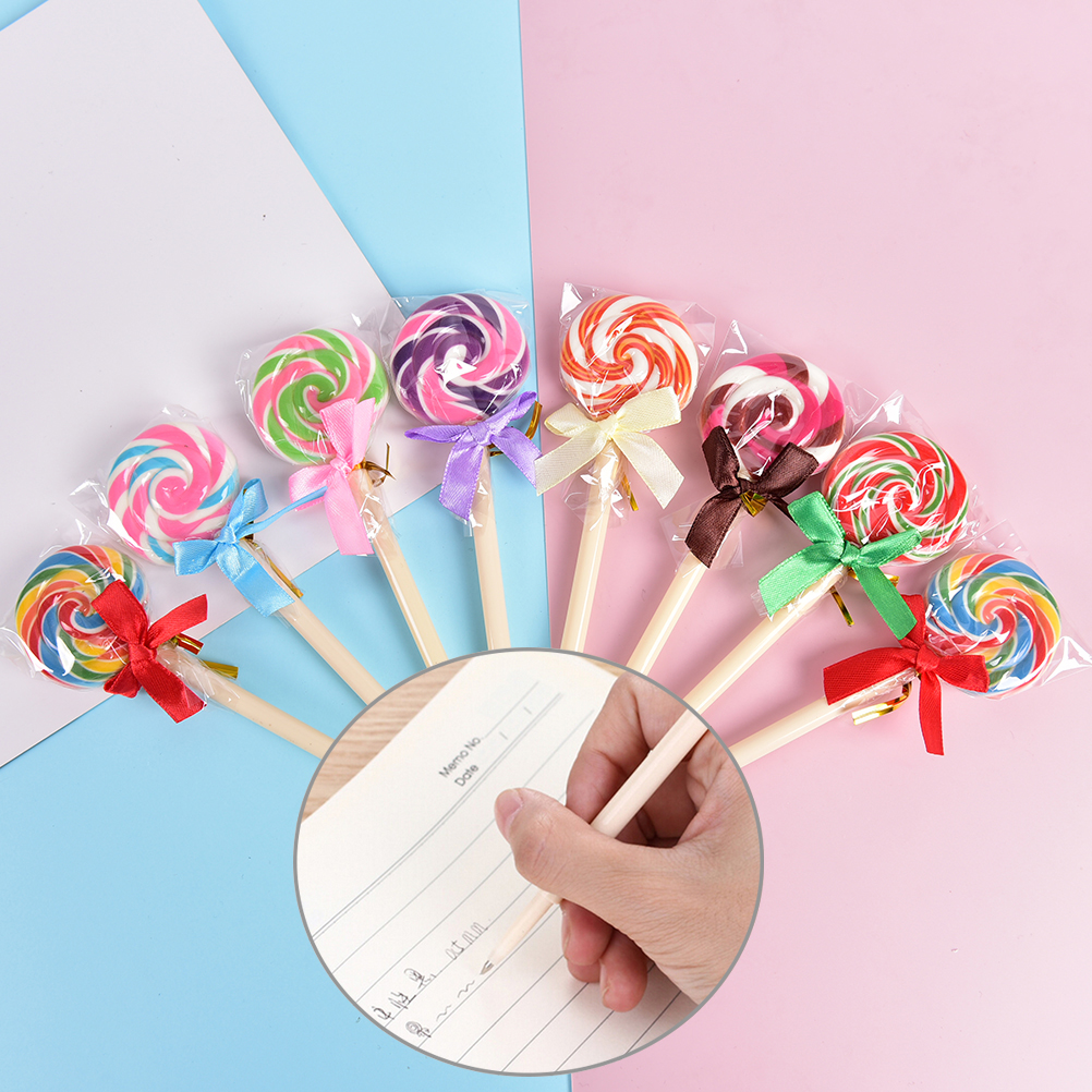 Gel Pens Peerless 12 Pcs/lot 0.5mm Plastic Candy Color Diamond Colored Ink Gel Pen Refill Replacement