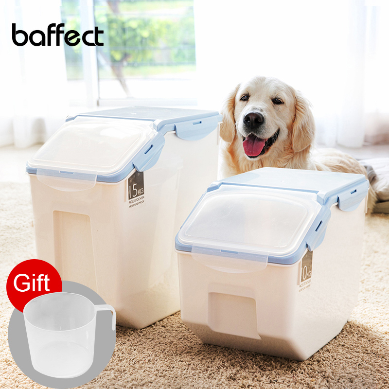 Dog Cat Food Barrel Large Capacity Pet Storage Grain Sealed Barrel Feed Fresh-keeping Box Pet Feeders Pet Products image