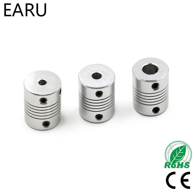 1pcs 5x8mm CNC Motor Jaw Shaft Coupler 5mm To 8mm Flexible Coupling OD 19x25mm wholesale Dropshipping 3/4/5/6/6.35/7/8/10mm
