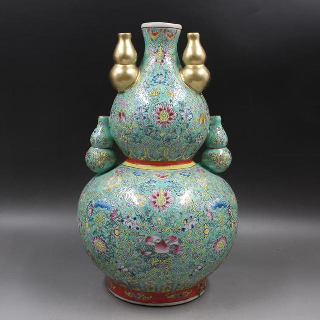 Antique Old Chinese Porcelain Vasepastel Longevity Bottlehandmade