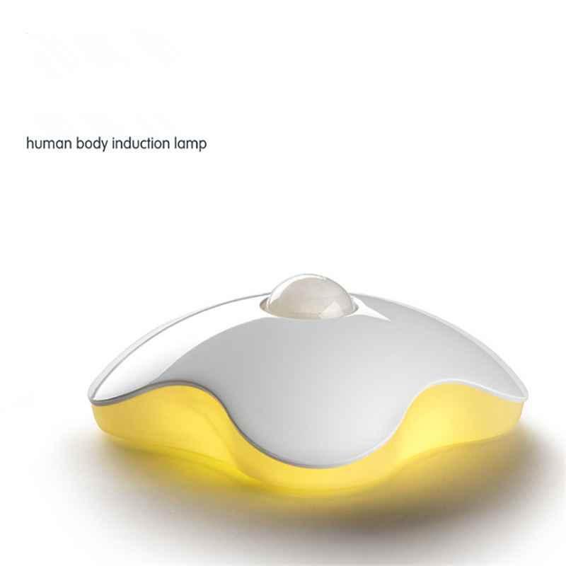 Светодиодный ночник батарея датчика движения USB умная индукция человеческого тела шкаф кабинетный Туалет лампы для детей ребенка четырехлистный клевер