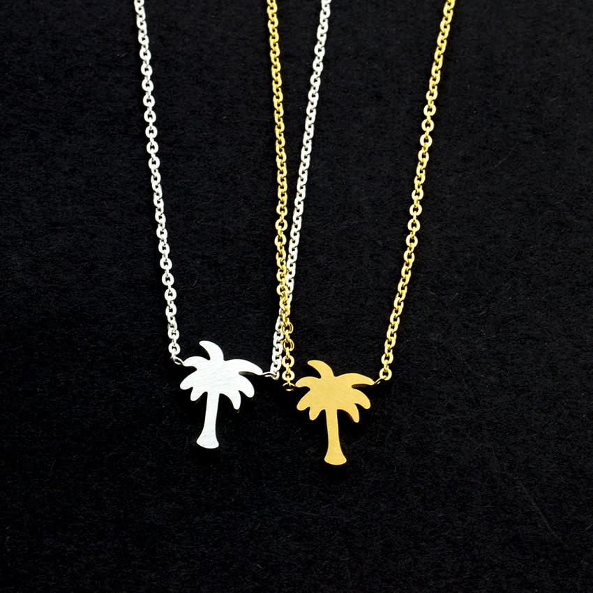Island Life Palm Tree κολιέ από ανοξείδωτο - Κοσμήματα μόδας - Φωτογραφία 6