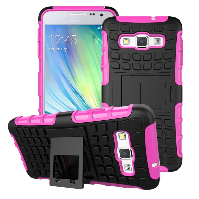For Samsung Galaxy A3 Case Shockproof Silicone + Plastic Cover For Samsung Galaxy A3 Phone Stand For Samsung A3 A300 2015 Bag #