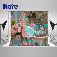 Kate Children Birthday Photogarphy Background Flower Microfiber Princess Girl Boy Backdropm Cake Photo Background Photography