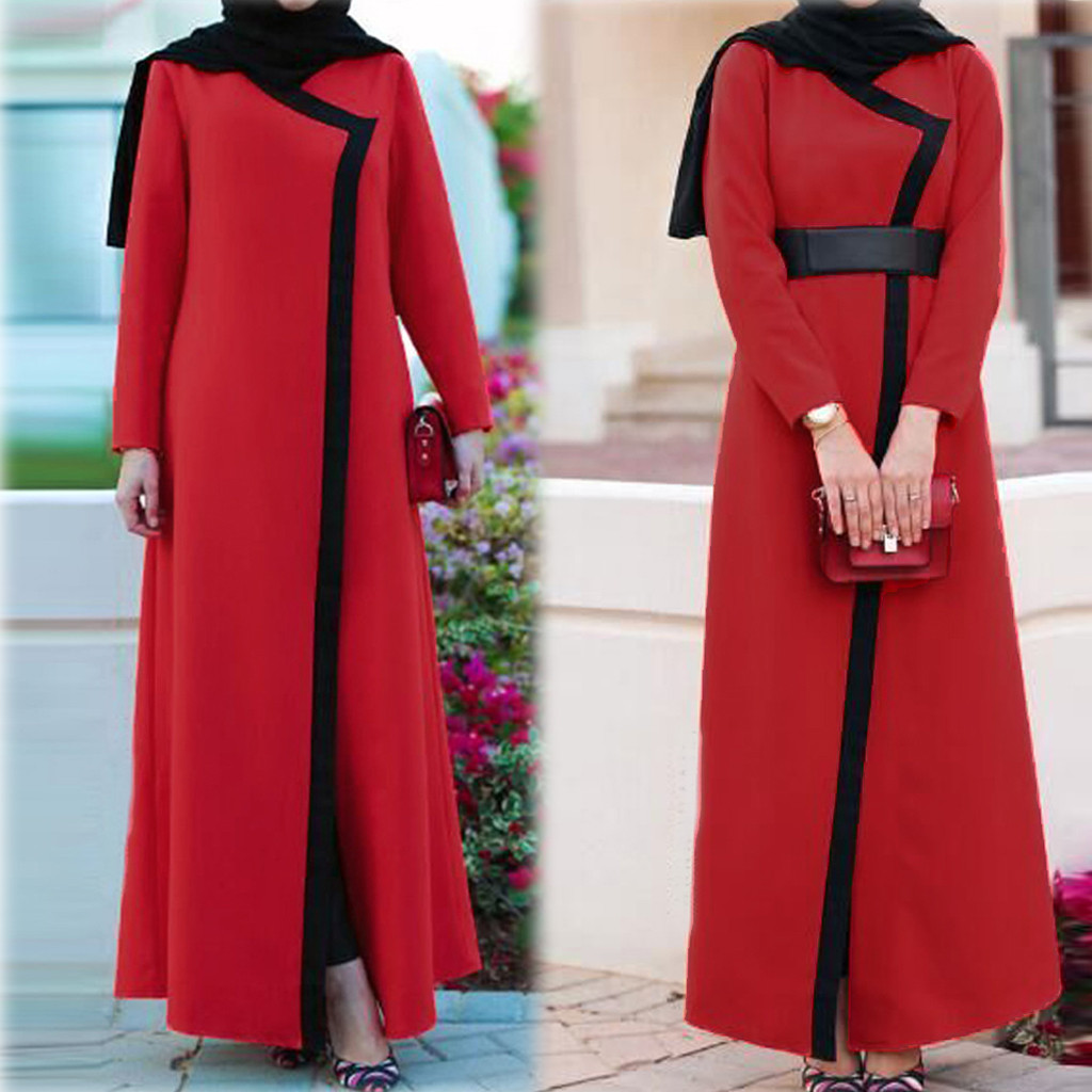 Islamic Clothing Muslim Dresses 2019 Dubai Women Open Kaftan Abaya Muslim Cardigan Jilbab Maxi Dress
