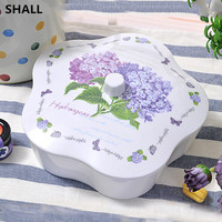 Creative Melamine Plum 3 Grids Dry Fruit Bowl Dessert Plate Candy Snacks Nuts Seeds Holder Tray