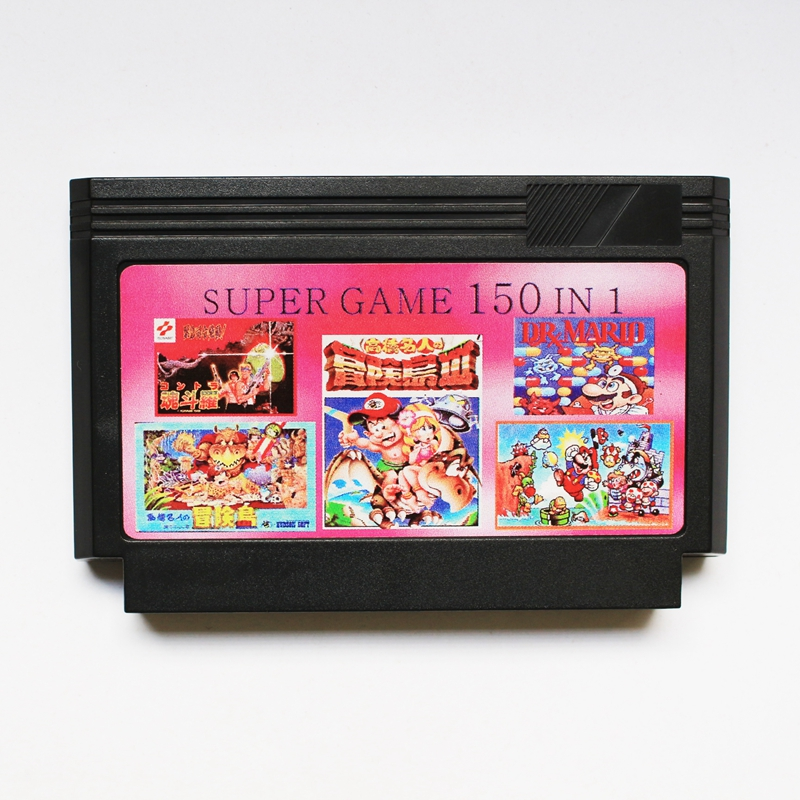 New arrival 8 bit game cartridge classical game card - super game <font><b>150</b></font> <font><b>in</b></font> <font><b>1</b></font> image