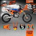 Equipe de gráficos fundos decalques personalizado 3 m gopro 2016 personalizado adesivo Kits Para KTM SX XC F 2011-2016 E 2012-16 Livre grátis