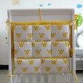 ¡ Promoción! gatito mickey 62*52 cm cama de bebé colgando bolsa de almacenamiento de algodón cuna juguete organizador de bolsillo del pañal para cuna bedding conjunto
