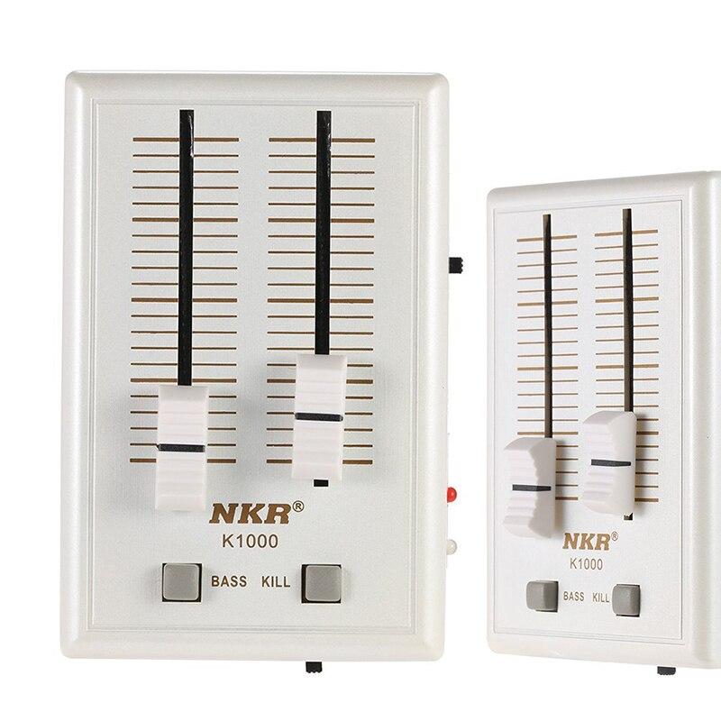 K1000 2 Ch Professional Pocket Mobile Phone Audio Sound Mixer Portable Headset Sound Card Headphone Amplifier USB DJ Sound Mixer
