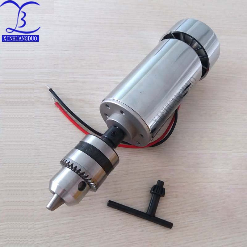 300W DC Spindle motor , DC12-48V 12000rpm, Engraving milling grind air-cooling Long mouth tightening 1.5mm - 10mm300W DC Spindle motor , DC12-48V 12000rpm, Engraving milling grind air-cooling Long mouth tightening 1.5mm - 10mm