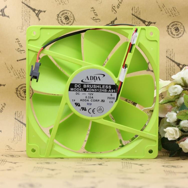 New ADDA ADN512HB-A91 135*135*25mm 13525 13.5cm DC 12V dual ball bearing cooling fan